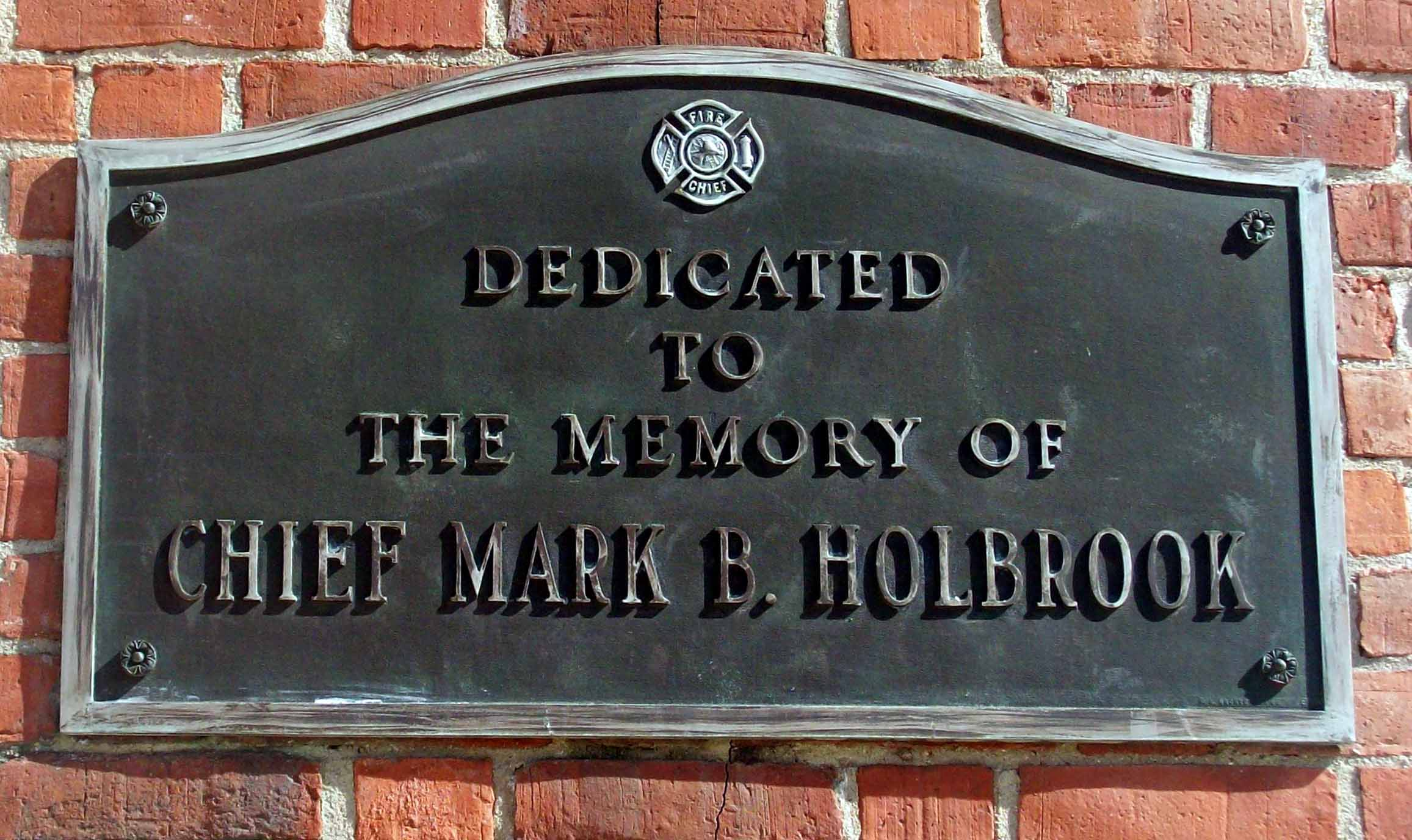 Dedicated to the memory Chief Mark B. Holbrook